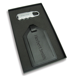 Luggage tag and lock