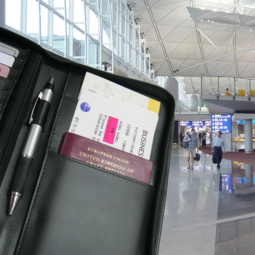 Space for board pass and passport