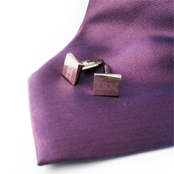 Engraved Metal Cufflinks