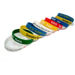 Coloured wristbands