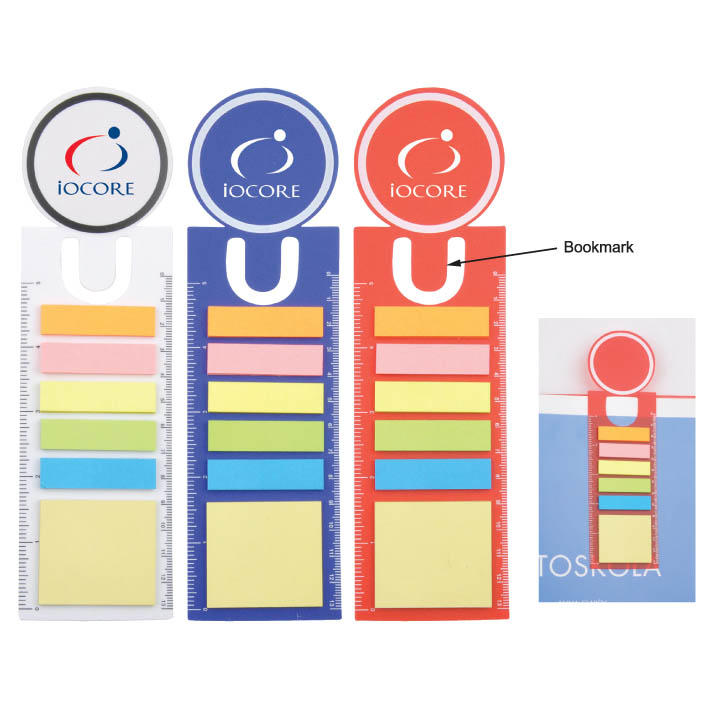 PP Sticky Notes with Bookmark and Ruler