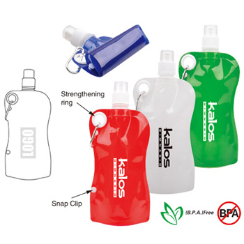 Personalized - Snap-On Foldable Water Bottle