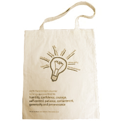 Personalized - Natural Cotton Tote Bag - Small