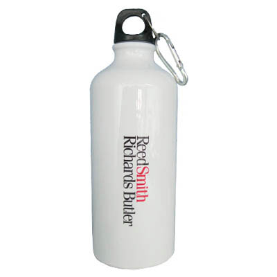 Personalized - 3 hour White Aluminium Flask