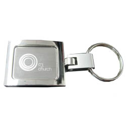 New Square Metal Keyring