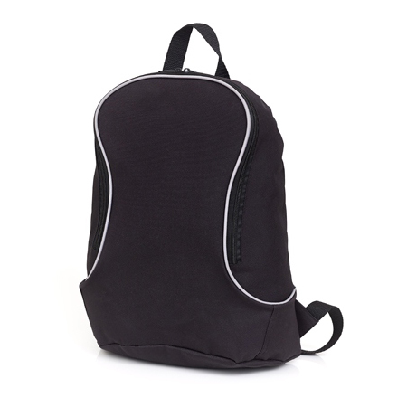 Backpack with grey piping