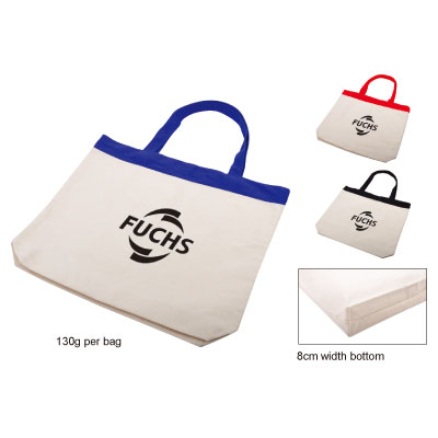 Cotton Tote with Colour Trim