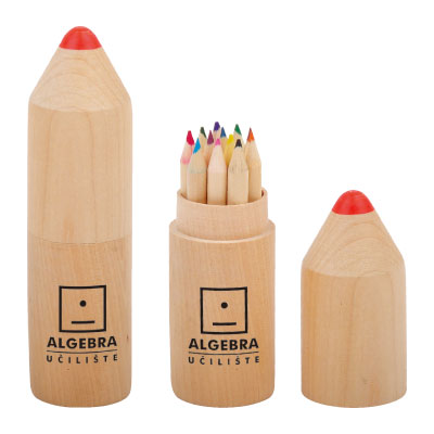 Personalized - Crayon Shaped Coloured Pencil Set
