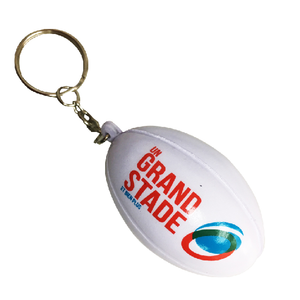 Rugby Stress Ball Keychain