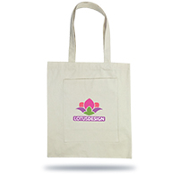 Personalized - Ariana Cotton Tote Bag with Inner Pocket