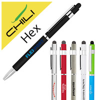 Hex Stylus Twist Metal Ballpen