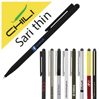 Personalized - Sari Thin Stylus Twist Metal Ballpen