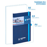 Personalized - PU A5 Soft Cover (stitched) Notebook