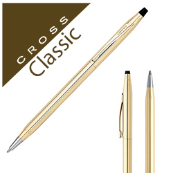 Personalized - Cross Classic Century 10k rolled gold pen