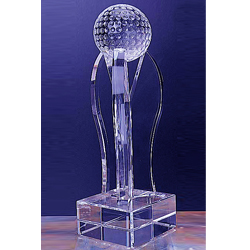 Personalized - Tall Golf Trophy