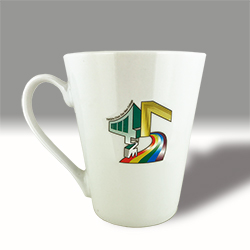 Cone shaped coffee mugs
