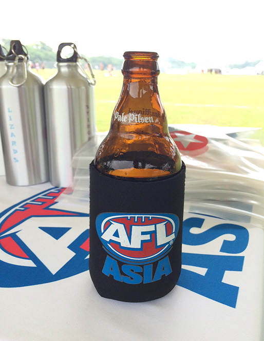 Our can coolers in action at AFL Asia in Manilla! /