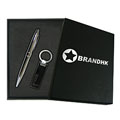 Personalized - Cross pen with Silver plated keychain