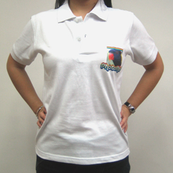 PhotoMe White Polo Shirts