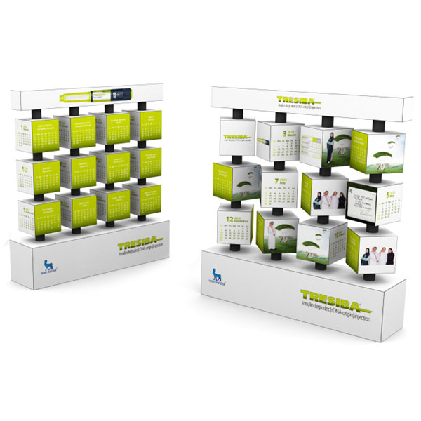 3x4 Revolving Calendars