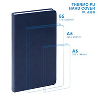 PU  B5 Hard Cover Notebook