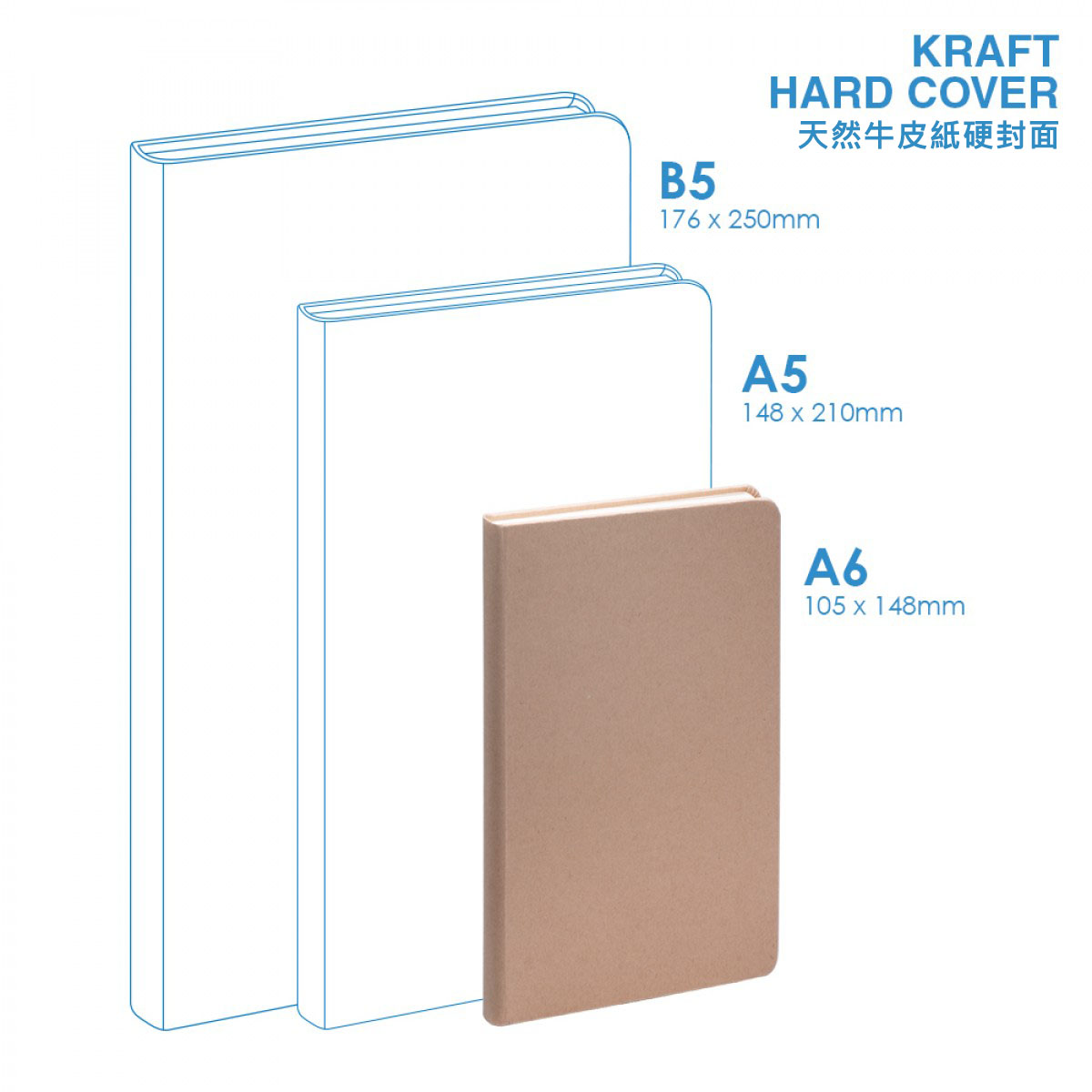 Eco A6 Hard Cover Notebook