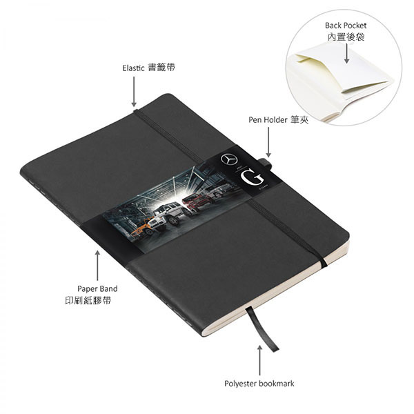PU A5 Soft Cover (glued) Notebook