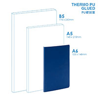 PU A6 Soft Cover (glued) Notebook
