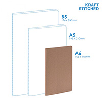 Eco A6 Soft Cover (stitched) Notebook