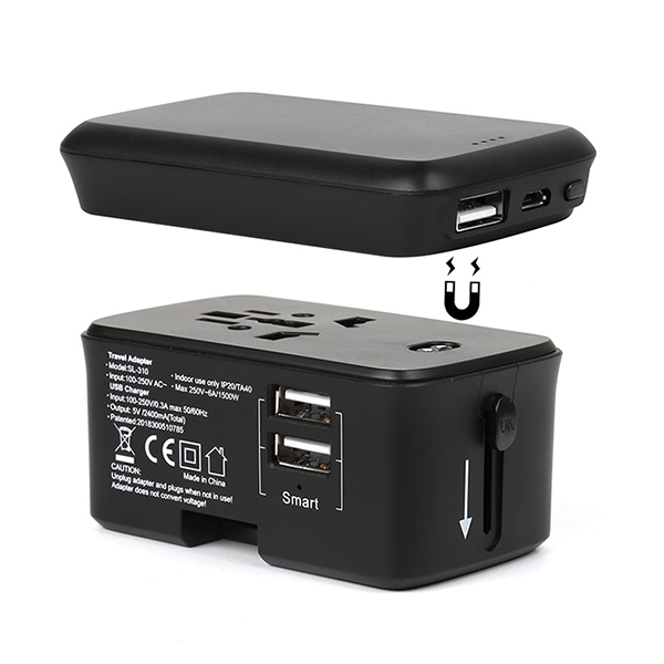 Travel Adaptor with Powerbank /